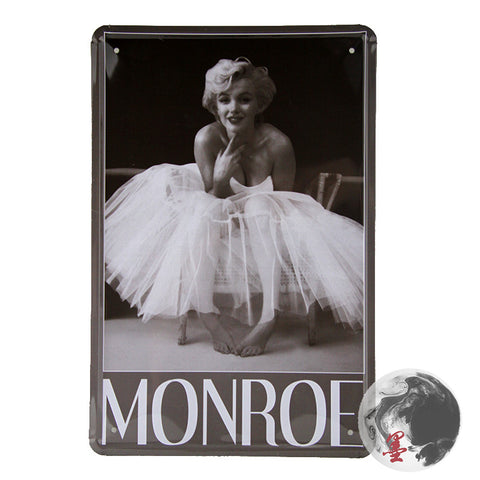 CLEARANCE - MODSQUID STOCK: Vintage Marilyn Monroe Metal Painting Iron Wall Mural for Bar/Coffee/Home Decoration/Decals A-02 20*30cm
