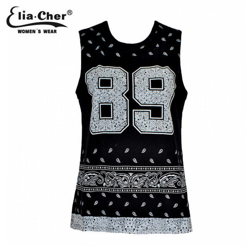CLEARANCE - 2015 New Design Fashion PAISLEY 86 BANDANA TANK FREE SHIPPING New Arrival Women Clothing
