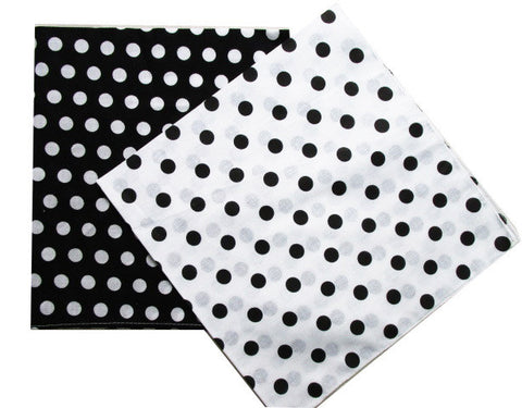 CLEARANCE - MODSQUID STOCK: 2015 New Fashion Cotton Black White Polka Dot Bandanas Headwear/Hair Band Scarf For Women/Mens Girl /Boys Kids