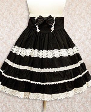 Black And White Polka Lace Gothic Lolita Skirt costumes cosplay halloween Christmas Alternative Measures
