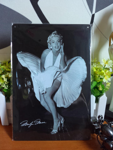 CLEARANCE - MODSQUID STOCK: Vintage metal painting retro metal tin sign 20cm*30cm Marilyn Monroe 4 art posters wall stickers home cafe bar pub wall decor