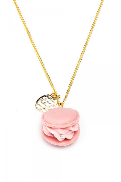 Strawberry Macaron Necklace