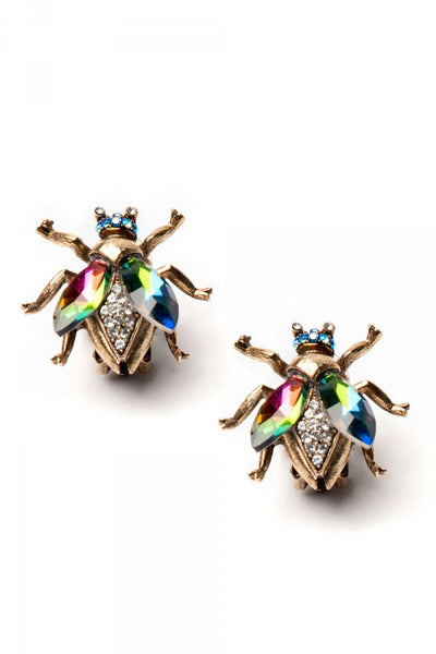 Queen Bee Iridescent Earrings