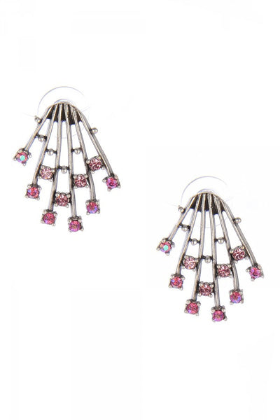 Ava Earrings in Pink