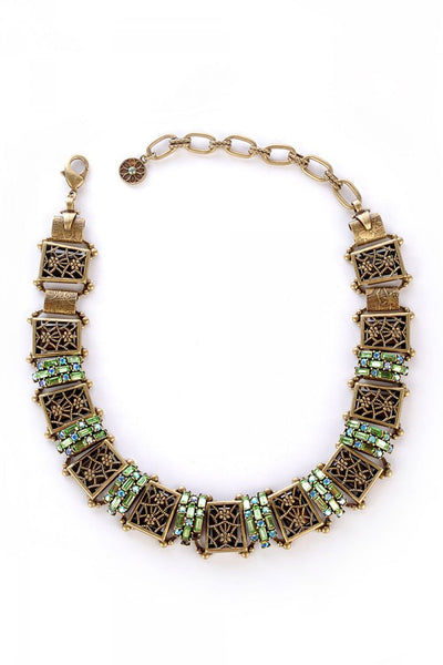 Angelique Collar Necklace in Green
