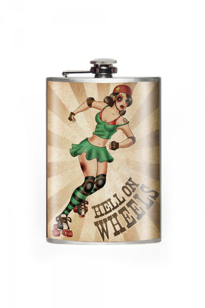 Hell on Wheels Flask