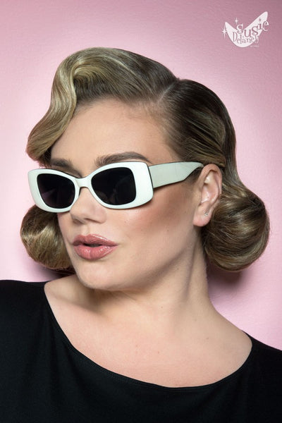 Sophie Sunglasses in White Smoke