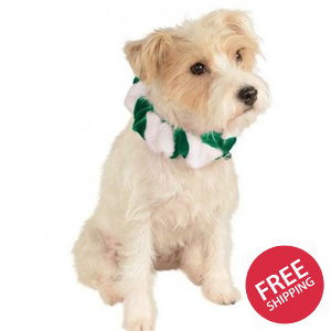 Green Candy Cane Christmas Pet Bell Collar