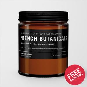 Premium Scented Candle: French Botanicals {Black Label Edition}