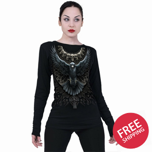 RAVEN SKULL - Baggy Top Black