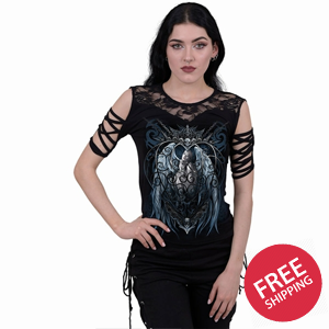 CAGED ANGEL - Lace Shoulder Strap Sleeve