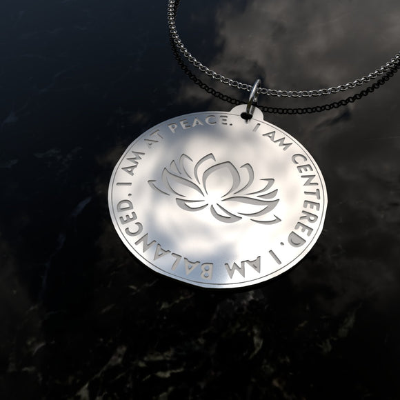 At Peace - Sterling Silver Necklace - Wiccan Place