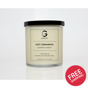Hot Cinnamon Scented Soy Candle