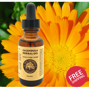 Calendula Herbal Oil. Most beneficial for dry skin