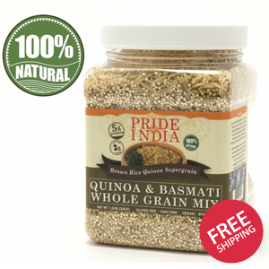 Quinoa & Brown Basmati Whole Grain Mix - Protein Rich Super Grain Jar