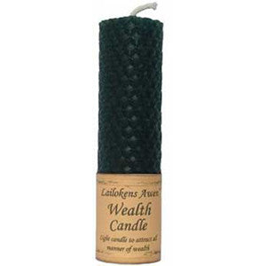 Wealth Lailokens Awen candle 4 1/4