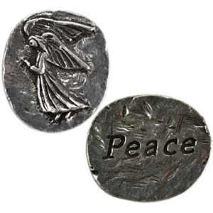 Peace Angel Pocket Stone - Wiccan Place