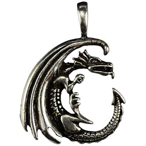 Dragon Moon Celestial Amulet Necklace - Wiccan Place