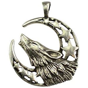 Howling Moon Celestial Amulet Necklace - Wiccan Place
