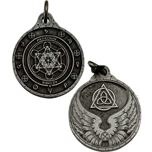 Archangel Metatron Talisman Necklace silver color - Wiccan Place