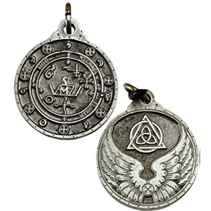 Saint Michael Talisman Necklace silver color