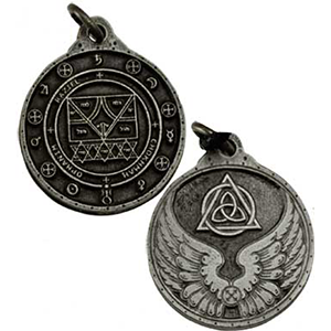 Raziel Talisman Necklace silver color - Wiccan Place