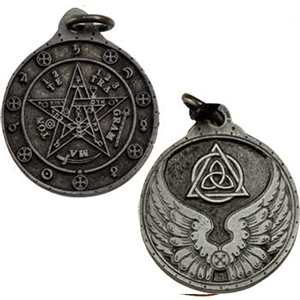 Tetagrammation Talisman Necklace silver color - Wiccan Place