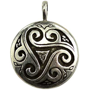 Triskele Shield Amulet Necklace - Wiccan Place