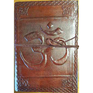 Om leather blank book w/ cord 5