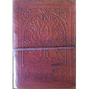Tree of Life leather blank book w/cord 5
