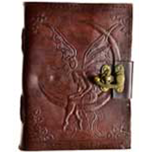 Fairy Moon leather blank book w/ latch - Wiccan Place