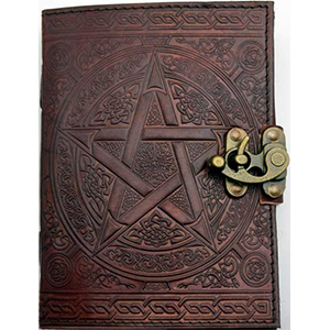 Brown Pentagram Leather Journal w/ Latch 5