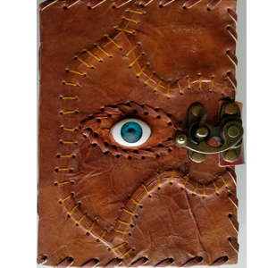 All Knowing Eye Leather Blank Book w/Latch