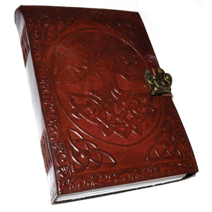 Tree of Life leather blank book w/ latch 7