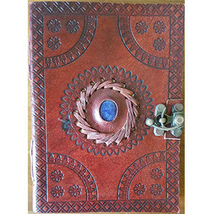 God's Eye Embossed leather journal w/ latch 5