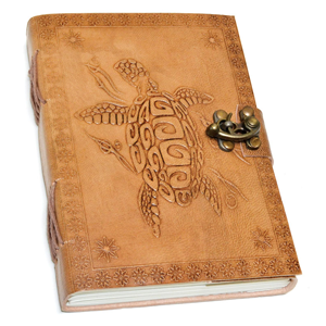 Turtle Embossed leather w/ cord 5