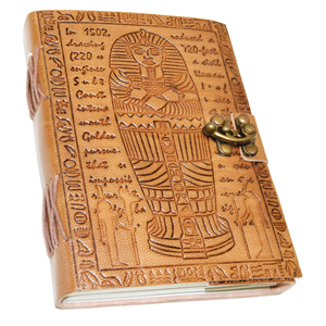 Egyptian Embossed leather Blank Book w/ latche