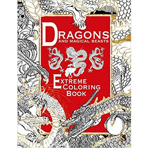 Dragons & Magical Beasts Extreme coloring book - Wiccan Place