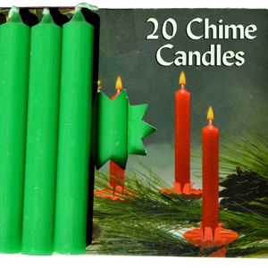 Emerald Green Chime Candle 20 pack - Wiccan Place