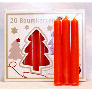 Orange Chime Candle 20 pack - Wiccan Place