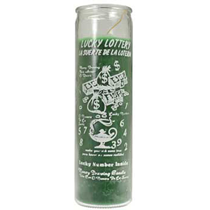 Lucky Lottery 7-day jar candle - Wiccan Place