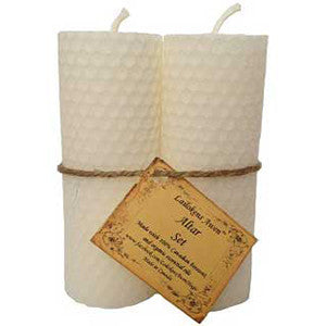 Altar set white Lailokens Awen candle 4 1/4