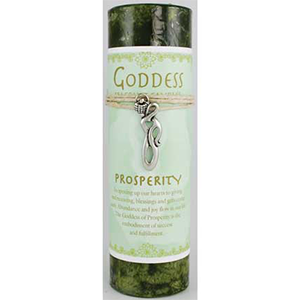 Prosperity Pillar Candle w/ Goddess Necklace - Wiccan Place
