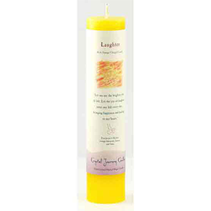 Laughter Reiki Charged Pillar Candle