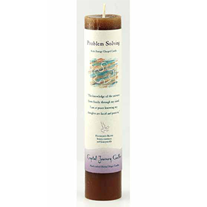 Problem Solving Reiki Charged Pillar Candle - Wiccan Place