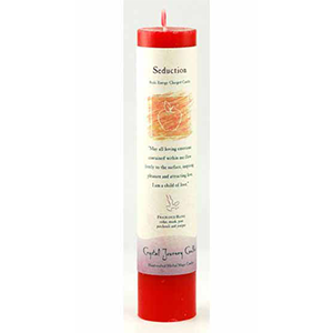 Seduction reiki charged pillar candle - Wiccan Place