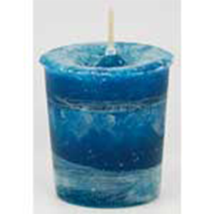 Angel's Influence Herbal votive candle - teal