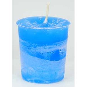 Ascended Masters & Guides Herbal votive - light blue - Wiccan Place