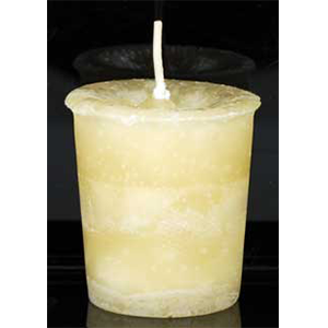 Astral Journeys Herbal votive - cream - Wiccan Place