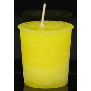 Laughter Herbal votive - yellow - Wiccan Place